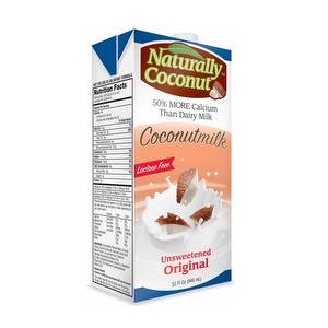 Leche de COCO sin azucar - Naturally Coconut 1 Lt