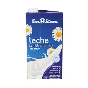 Leche 2% Semidescremada - Dos Pinos - 1 Lt