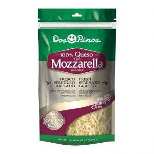 Queso 100% Mozarella Rallado - Dos Pinos - 225 grs