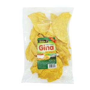 Tortillas de maiz con Jalapeños - Gina 150 grs