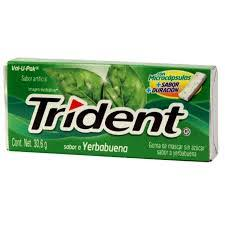 Chiclets Trident Hierbabuena