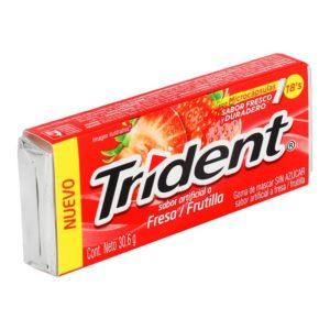 Chiclets Trident Fresa