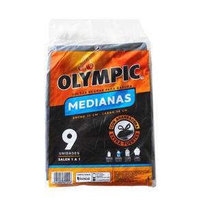 Bolsas Negras para Basura Medianas x 9 - Olympic