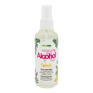 Splash Alcohol 70% con Aromaterapia y Humectación 100 ml - Natucare