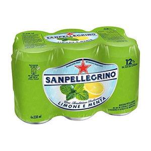 Pack de 6 - San Pellegrino Limón y Menta Lata 355 ml