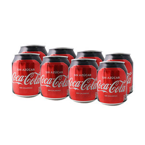 Minilatas x 8 - Coca Cola Sin Azúcar