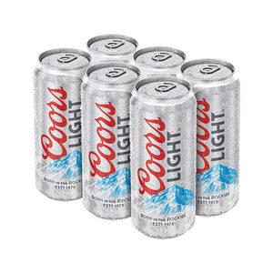 Pack de 6 - Coors Light Lata 355 ml
