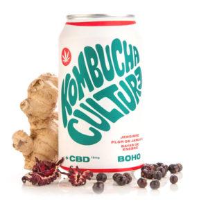 CBD Boho Kombucha Culture (Jamaica, jengibre, bayas y 15 mg de CBD) - 355ml