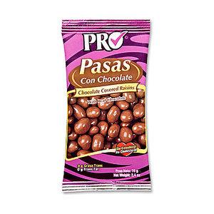 Pasas con chocolate PRO 70 grs