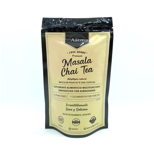 Masala Chai Tea con Aswaghanda (Mezcla en polvo de Té Chai y especies) 125 gr