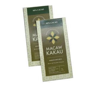 2x1 - Chocolate Artesanal 60% Cacao - Macaw Kakau