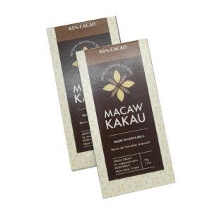 2x1 - Chocolate Artesanal 85% Cacao - Macaw Kakau