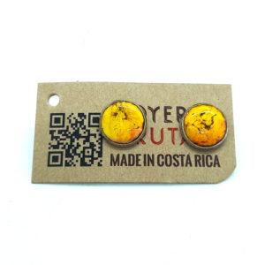 Aretes Botón de Banano - Amarillo - Joyeria Frutal