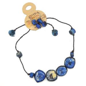 Juego de collar y aretes Azul - Tajadas de Banano