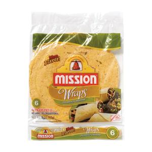 Mission Wraps x 6 - Cheddar Jalapeño - XL