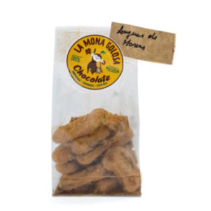 Lenguas de mona (con leche y cacao en polvo) - 100 grs - La Mona Golosa