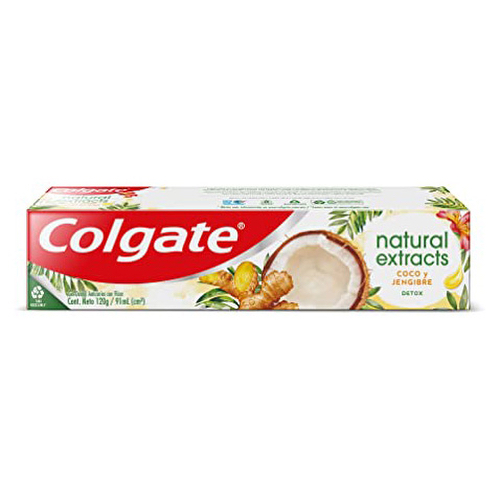 Pasta Dental Colgate Natural Extracts Coco y Jengibre 88 ml