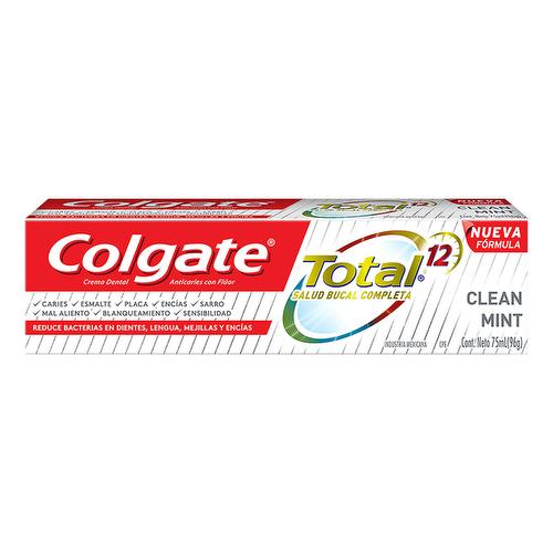 Pasta Dental Colgate Total 12  Clean Mint 75 ml