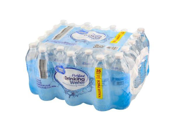 35 Pack Agua Purificada Great Value - 500ml