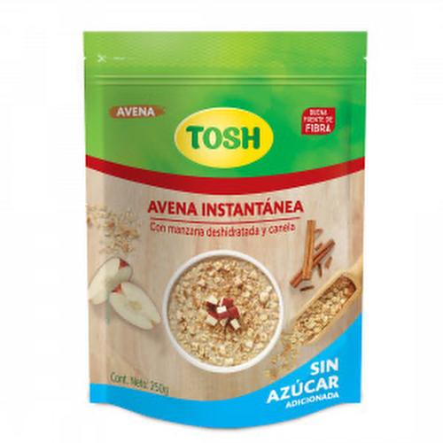 Avena Instantánea sin Azúcar con manzana y canela - Tosh - 250 grs