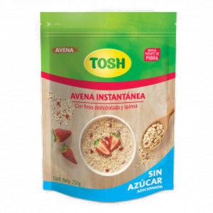Avena Instantánea sin Azúcar con Fresa y Quinoa - Tosh - 250 grs