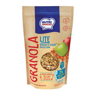Granola Lite con Manzana, Almendras, Chia y Linaza - NutriSnacks- 300 grs