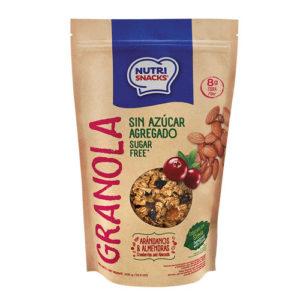 Granola Sin Azúcar con Arándanos y Almendras- NutriSnacks- 300 grs