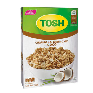 Multicereal Granola Crunchy Coco - Tosh- 300 grs