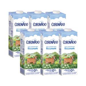 Pack 6 Leche Descremada 0% - 1L - Coronado