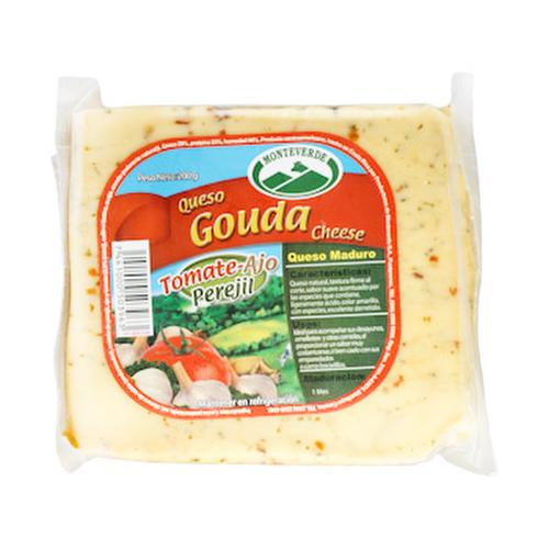 Queso Gouda con Tomate, Ajo y Perejil - Monteverde - 200 grs