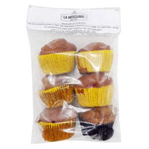 Muffins x 6 (3 Zanahoria, 3 Banano) - La Artesanal
