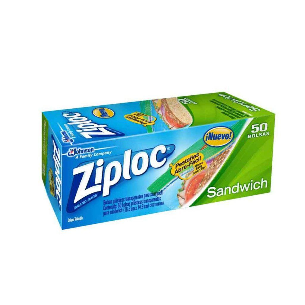 Bolsa Ziploc Chica (Sanwiches) x 50