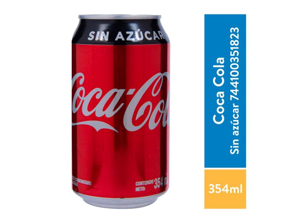 Coca Cola Sin Azucar Lata 355 ml