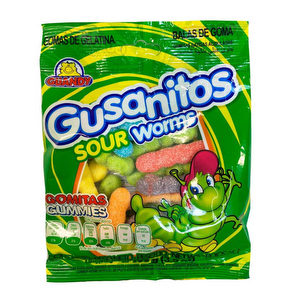 Gomita Gusanito Acido Guandy 100 Gr