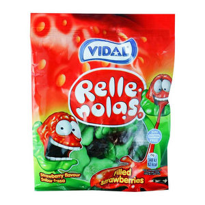 Gomita Vidal Fresa Rellenas - 100gr