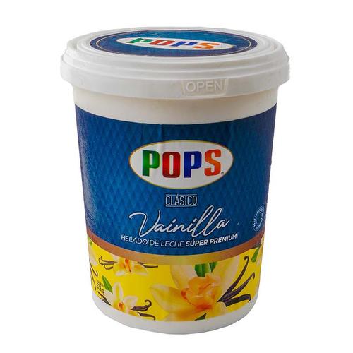 Helado Vainilla Clásico - Pops 530 gr