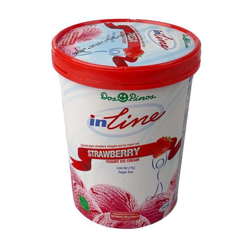 Helado de Yogurt IN LINE Fresa - Dos Pinos 550 grs