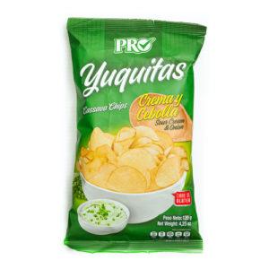 Yuquitas Crema y cebolla - Pro 120 grs
