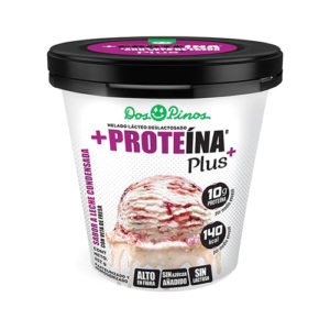 Helado Delactosado sabor Leche condensada con Fresa Proteina+ Dos Pinos - 252 gr