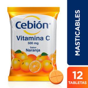 Cebión Vitamina C Tabletas Masticables 12 unid.