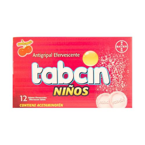 Antigripal Niños Tabcin Efervecente 12 tabletas