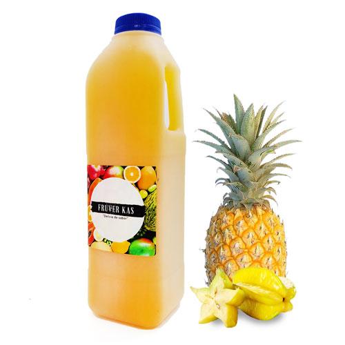 Piña Carambola - Nectar de frutas - sin azucar agregada - 1 Lt - Fruver Kas