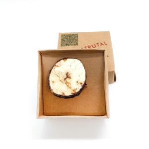 Anillo Tajada de Banano - Natural - Joyeria Frutal