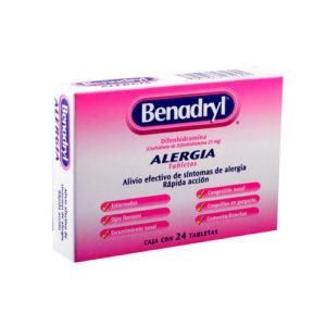 Benadryl Alergia 25 mg - 24 tabletas
