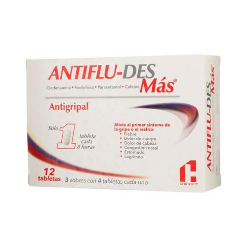 AntiFlu-Des Más Antigripal - 12 tabletas