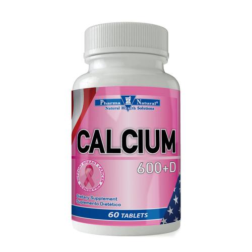 Calcium 600 mg + Vit D3 x 60 - Pharma Natural