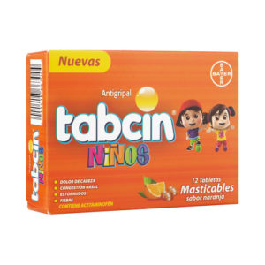 Tabcin Antigripal Niños  - Masticables 12 tabletas