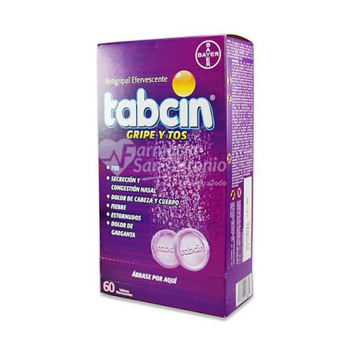 Tabcin Gripe y tos  - Efervescente 12 tabletas