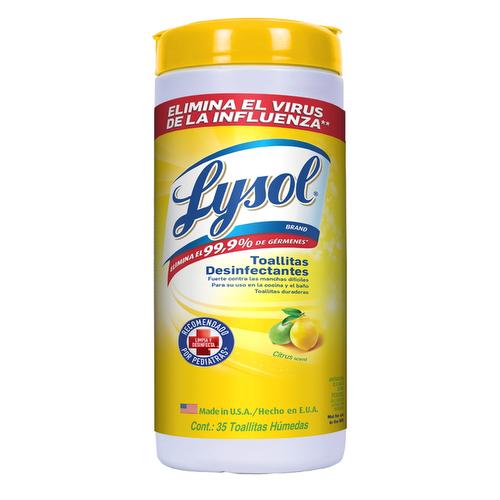 Toallitas desinfectantes para superficies Citrus - Lysol - 35 unid