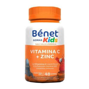Vitamina C y Zinc  para Niños Bénet - 48 gomitas